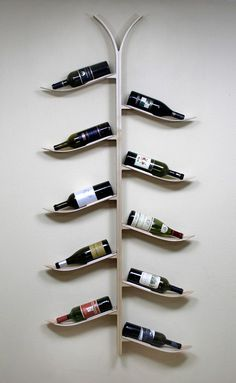 American consumers are celebrating more often with a bottle of wine. More wine means more wine racks. More wine rack production means more waste, higher carbon footprint… Décor Ski, Ski Chalet, Wine Bottle Trees, Wine Tree, Ski Rack, Ski Decor, Snow Skiing, Wine Storage, Everyday Items