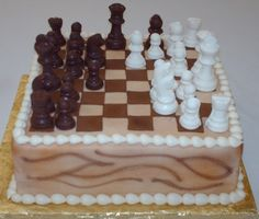 grooms cake idea. With wizards chess instead
