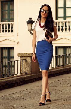 falda azul - Buscar con Google