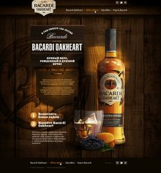 #Webdesign concept for Bacardi Oakheart 83oranges.com