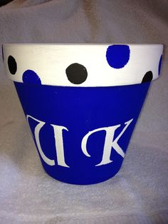 University of Kentucky flower pot