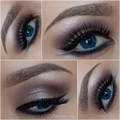 CORK on lid NAKED LUNCH on brow bone blend FIG. 1 in crease; blend well apply a smidgen of ESPRESSO in outer crease pat WARMING HEART pressed pigmenton entire lid for a subtle gold shimmer line 2Faced wproof liner PERECT PEACOCK on lowerlash line (slightly wing out) & smudge w/ FIG. 1 & ESPRESSO 7.) NYC liquid liner ontop lashline NYX MILK on waterline RedCherry lashes #110 stacked & only  Loreal voluminous on bottom lashes ColorBlend contacts in Brilliant Blue & Mac spiked pencil on brows