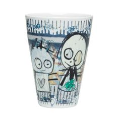 Poul Pava Be Friends Termokrus Party 2 stk. Pint Glass, Scandinavian, Packing, Mugs, Tableware, Illustration, Artist, Party, Design