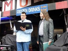 DEAN DEYO reading the citation from the City of Memphis at FREEWORLD's Beale Street Note Presentation.