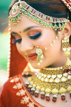 Bridal Makeup Images, Bridal Makeup Looks, Head Jewelry, Bride Portrait, Wedding Function, Photo Makeup, Pakistani Bridal, Wedding Day, Faces