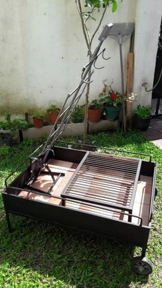 Fire Pit Backyard, Backyard Bbq, What To Grill, Big Green Egg Grill, Argentine Grill, Custom Bbq Pits, Diy Grill, Campaign Furniture, Summer Barbeque