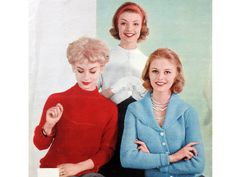Womens JACKETS Knitting Pattern PDF, Vintage 50s Ladies Bolero Top, Zip Up Jacket, Cardigan, Crochet Bed Jacket