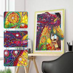 Plein Foret Courant Cheval For/êt Strass Broderie Point De Croix Fournitures Arts Craft Toile Mur D/écor 30x30 cm DIY 5D Peinture De Diamants Par Kit Nombre