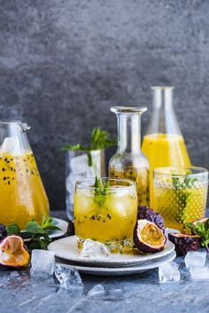 Passion Fruit Champagne - a super easy cordial made when passion fruit are in season and mixed for champagne for a festive drink #cocktaildrinks