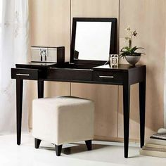 Like the idea of a dressing table especially when the mirror folds down so can be used as a normal table as well.