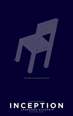 Inception (2010) ~ Minimal Movie Poster by Michael Wild #amusementphile