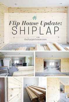 Check out all the updates at our flip house and how we added instant character to a boring house with SHIPLAP | The Harper House