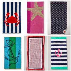 Nautical by Nature | 6 Nautical towels for the beach or pool