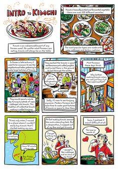 Robin Ha is the author of the graphic novel memoir, 'Almost American Girl', and the New York Times bestseller, 'Cook Korean!: A Comic Book with Recipes'. Visit my website Korean Dishes, Korean Food, Chinese Food, Japanese Food, Easy Chinese Recipes, Asian Recipes, Banchan Recipe, Asian Cookbooks, Robin