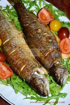 Pastrav la cuptor cu vin, lamaie si rozmarin Tuna Recipes, Cooking Recipes, Romanian Food, Romanian Recipes, How To Cook Fish, Fish And Seafood, Casserole Recipes, Soul Food, Food To Make