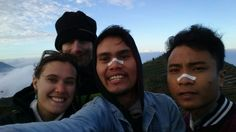 Say cheese from mt.Sikunir