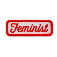 Yes all women - Embroidered patch with merrowed edge - Iron-on adhesive backing…