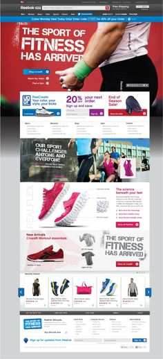 Reebok - eCommerce Site | VOLTAGE Digital Advertising & Design