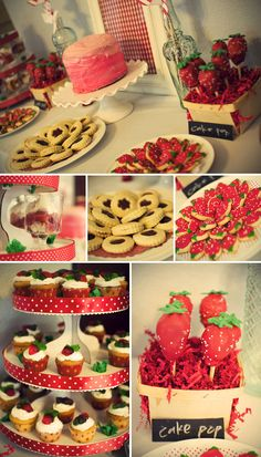 Strawberry-themed party = zetariffic bid day or sisterhood event theme!