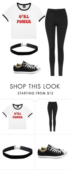 """Untitled #30"" by iamalyceparis on Polyvore featuring Topshop, Miss Selfridge, Converse and girlpower"