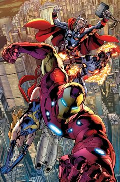 super-nerd:  Avengers — Bryan Hitch