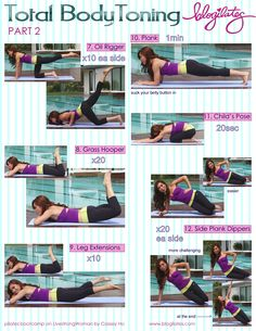 Pilates Bootcamp: Total Body Toning Printable | Blogilates
