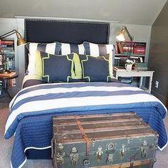 Navy Headboard, Cottage, boy's room, Southern Hospitality