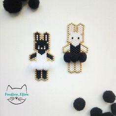 Brick stitch ballerina bunnies