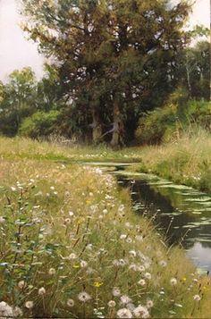 Ford Road Field in Summer (oil on panel) | Renato Muccillo