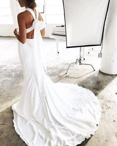 White Prom Dress,Mermaid Evening Dress,Fashion Prom Dress,Sexy Party Dress,Custom Made Evening Dress Plain Wedding Dress, Plain Dress, Wedding Bows, Wedding Styles, Wedding Ideas, Dream Wedding, Deb Dresses, Simple Dresses, Bridal Dresses