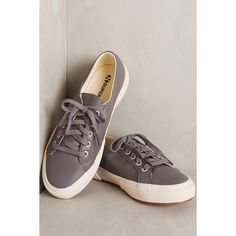 Superga Nappa Sneakers ($139) ❤ liked on Polyvore featuring shoes, sneakers, charcoal, rubber sole shoes, superga sneakers, superga shoes, superga and twisted shoes