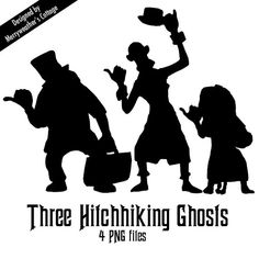 Disney's Haunted Mansion Hitchhiking Ghosts PNG files