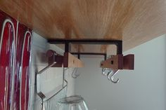 Liz Dunning Design & Woodwork: September 2010a bracket/rail system that could accommodate Ikea's Grundtal system on the back rail and Taylor and Ng swivel hooks for pots and pans in the front. The Grundtal system has everything from spice racks and dish drainers to simple S hooks.