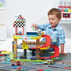 Pitstop Toy Garage - Wooden Toys - Toys & Gifts