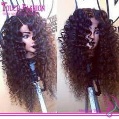 Hotsale!! Virgin Brazilian Deep Curly Lace Front Wig Glueless Front Lace Wigs With Natural Style Curly For African Americans