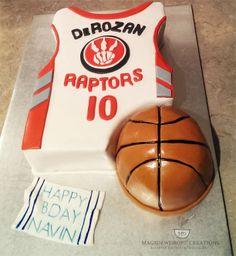 Raptors Basketball Theme Cake