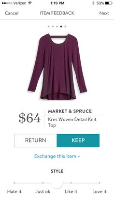 Market & Spruce Kres Woven Detail Knit Top $64. I love Stitch Fix! A personalized styling service and it's amazing!! Simply fill out a style profile with sizing and preferences. Then your very own stylist selects 5 pieces to send to you to try out at home. Keep what you love and return what you don't. Only a $20 fee which is also applied to anything you keep. Plus, if you keep all 5 pieces you get 25% off! Free shipping both ways. Schedule your first fix using the link below! #stitchfix…