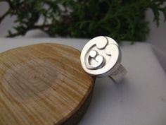 Silver ring motherhood and twins  www.olinkastyle.nl