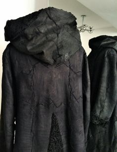 new yesterday - reworked persian fur fashion, coat with hood, reversible, one of a kind, slow fashion
