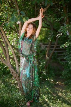 Шелковое платье-туника UONA.RU  #шелк #лето #длинное платье # туника #стильно #мода #Москва