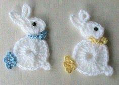Crochet Bunny Rabbit applique:
