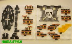 Pirate ship hama perler beads by Hama Style Pony Bead Patterns, Pearler Bead Patterns, Perler Patterns, Beading Patterns, Perler Bead Designs, Hama Beads Design, Perler Beads, Perler Bead Art, Pokemon Letters