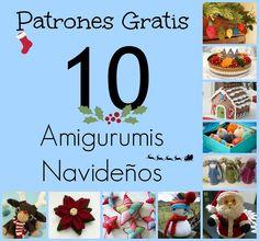 De cara al Reto de Navidad  que comienza el 22 de Diciembre, te dejo una recopilación de  10 Patrones Gratuitos de Amigurumis Navideños .  ...