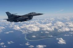 F16 Fighting Falcon from 14th Fighter Squadron taking part in exercise  Cope North 15 over Guam. Photo by Tech Sgt Jason Robertson.