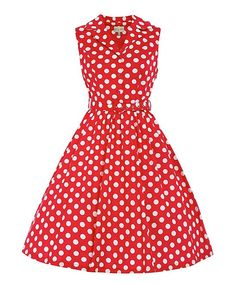 Look at this #zulilyfind! Lindy Bop Red & White Polka Dot Matilda A-Line Dress - Plus Too by Lindy Bop #zulilyfinds