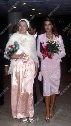 Princess Grace and her daughter, Princess Caroline