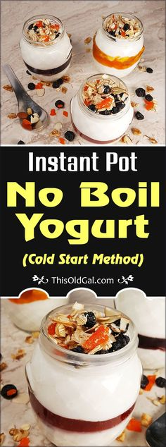 Instant Pot No Boil Yogurt is simply a shortcut to Yogurt making that uses a Cold Start Method. Meaning the Milk is not first boiled. via @thisoldgalcooks