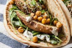 Ranch Pitas With Roasted Potatoes and Chickpeas #Vegan
