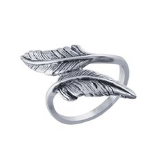 Sterling Silver Feather Ring #boho #jewelry #feathers #rings