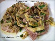 Oggi una ricetta di quelle che io considero complete e saporite: le scaloppine con carciofi! Semplice ma buonissima, ti risolve la cena!